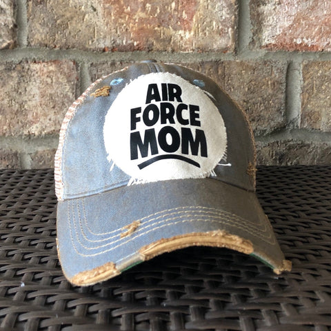 Air Force Mom Hat, Air Force  Hat, Military Hat, Armed Forces Hat