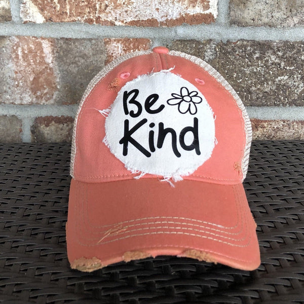 Be Kind Hat, Weathered Hat, Summer Hat