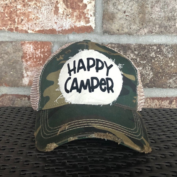 Happy Camper Hat, Camping Hat