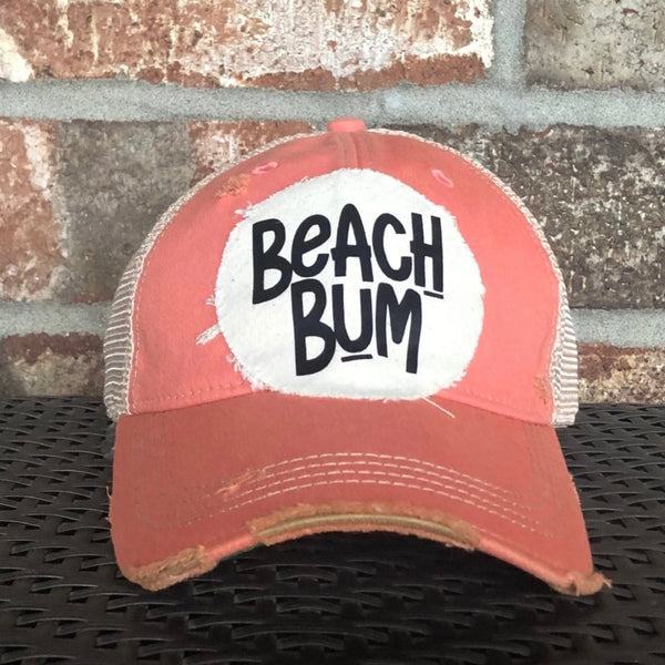 Beach Bum Cap, Distressed Hat, Weathered Hat, Summer Hat