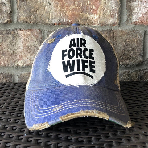 Air Force Wife Hat, Military Hat, Air Force Hat, Armed Forces Hat