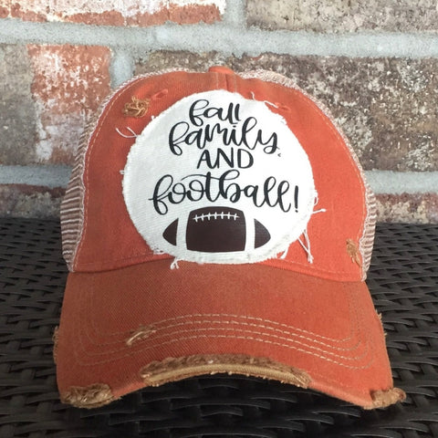 Fall Family and Football Hat
