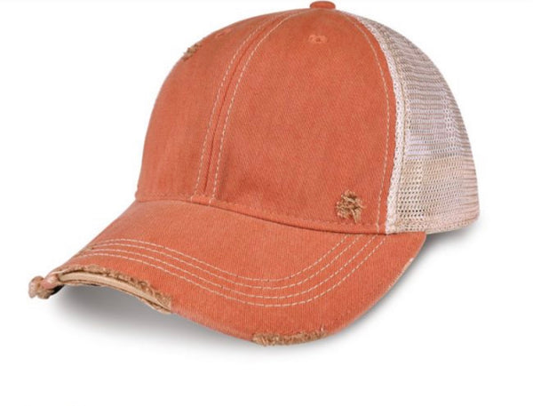 Farm Hair Don't Care Hat, Ball Cap, Distressed Hat, Weathered Hat