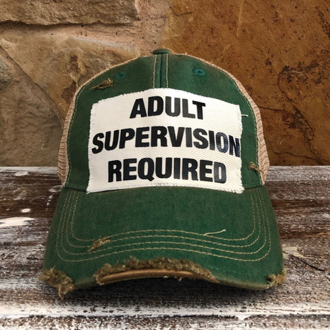 adult supervision required hat, baseball hat, baseball cap, baseball hats for women, unisex hat, unisex cap, men's hat, women's hat, ball cap, vintage ball caps, trucker hats, distressed hat, weathered hat, mom hats, soft hats for cancer patients, funny hats, funny hats for men, friend's hats, crazy hats, cool hats, funny baseball hats, funny hats sayings, summer hats, cotton hats
