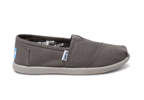 Youth Toms Classic Canvas Ash