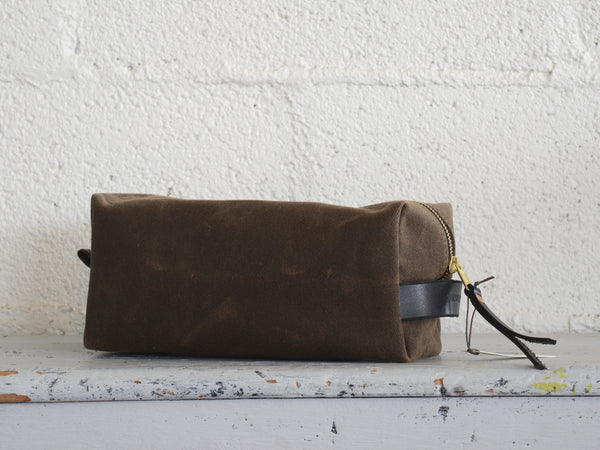 Hudson Made  Waxed Cotton Twill Dopp Kit