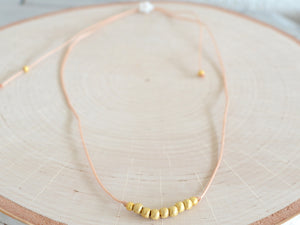 Simple Golden Beaded Necklace