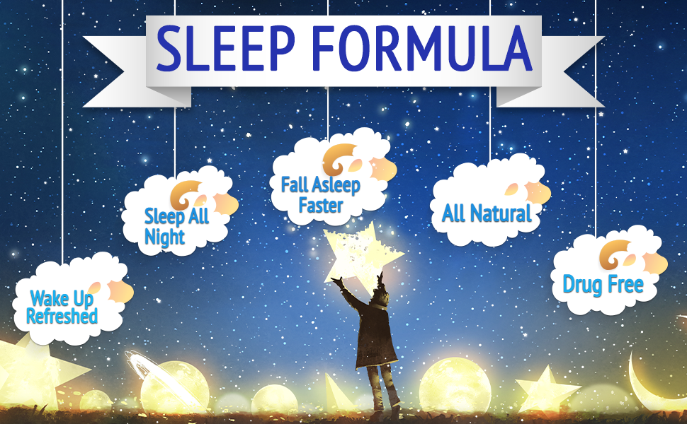 sleep aid powder supplement drink natural calm melatonin stress relief gaba night time water deep
