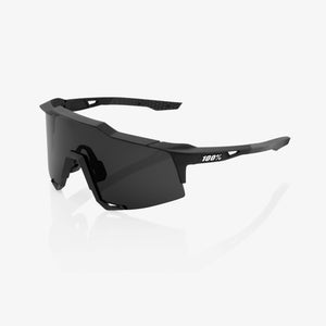 100% Speedcraft Soft Tact Black, Smoke Lens