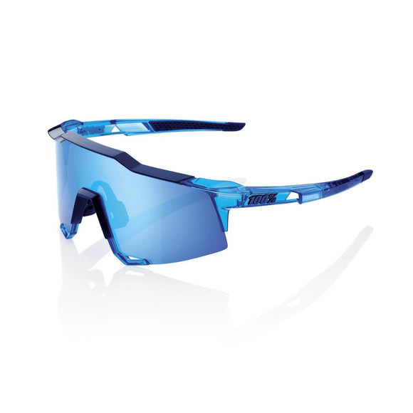 100% Speedcraft Polished Translucent Crystal Blue, Hiper Blue Mirror Lens