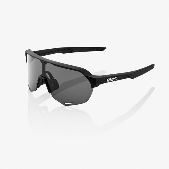100% S2 Soft Tact Black, Smoke Lens