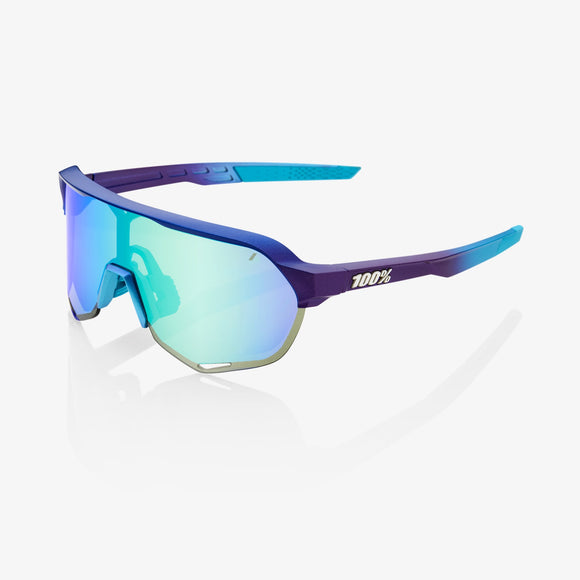 100% S2 Matte Metallic Into Fade, Blue Topaz Multilayer Mirror Lens