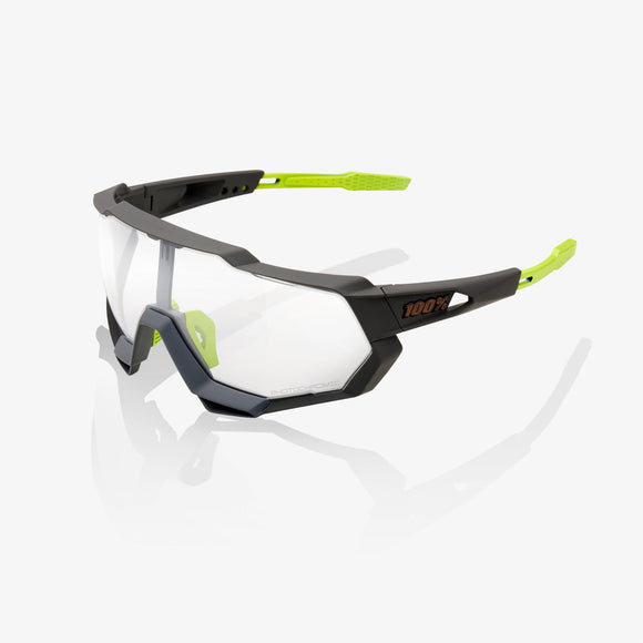 100% Speedtrap Soft Tact Cool Grey, Photochromic Lens