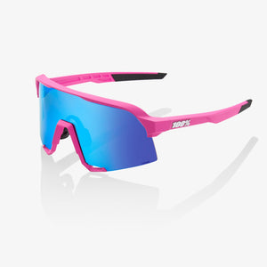 100% S3 Matte Pink, Hiper Blue Multilayer Mirror Lens