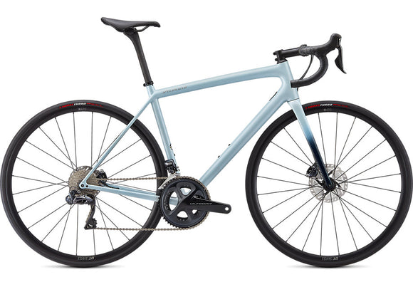 Specialized Aethos Expert Gloss Ice Blue/Teal Tint/Flake Silver - Ultegra Di2