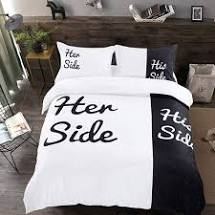 Her Side and His Side bedding - Sleep Divorce