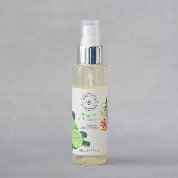 Bergamot and Frankincense Pillow Spray to aid Sleep