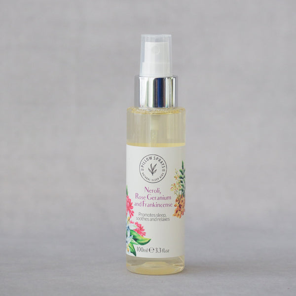 Neroli, Rose Geranium and Frankincense Pillow Spray to aid Sleep