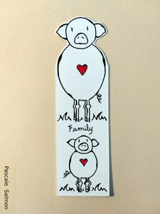 "Marque-page ""Family Pig"""