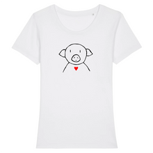 "Load image into Gallery viewer, T-shirt Femme ""Pig d'Amour"""