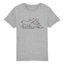 "Charger l'image dans la galerie, T-shirt Enfant ""Be kind to all animals"""