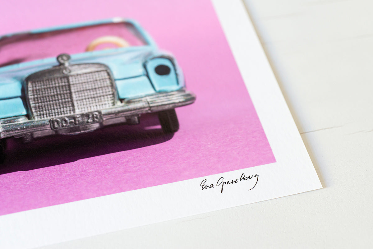 detail print minimal car photography
