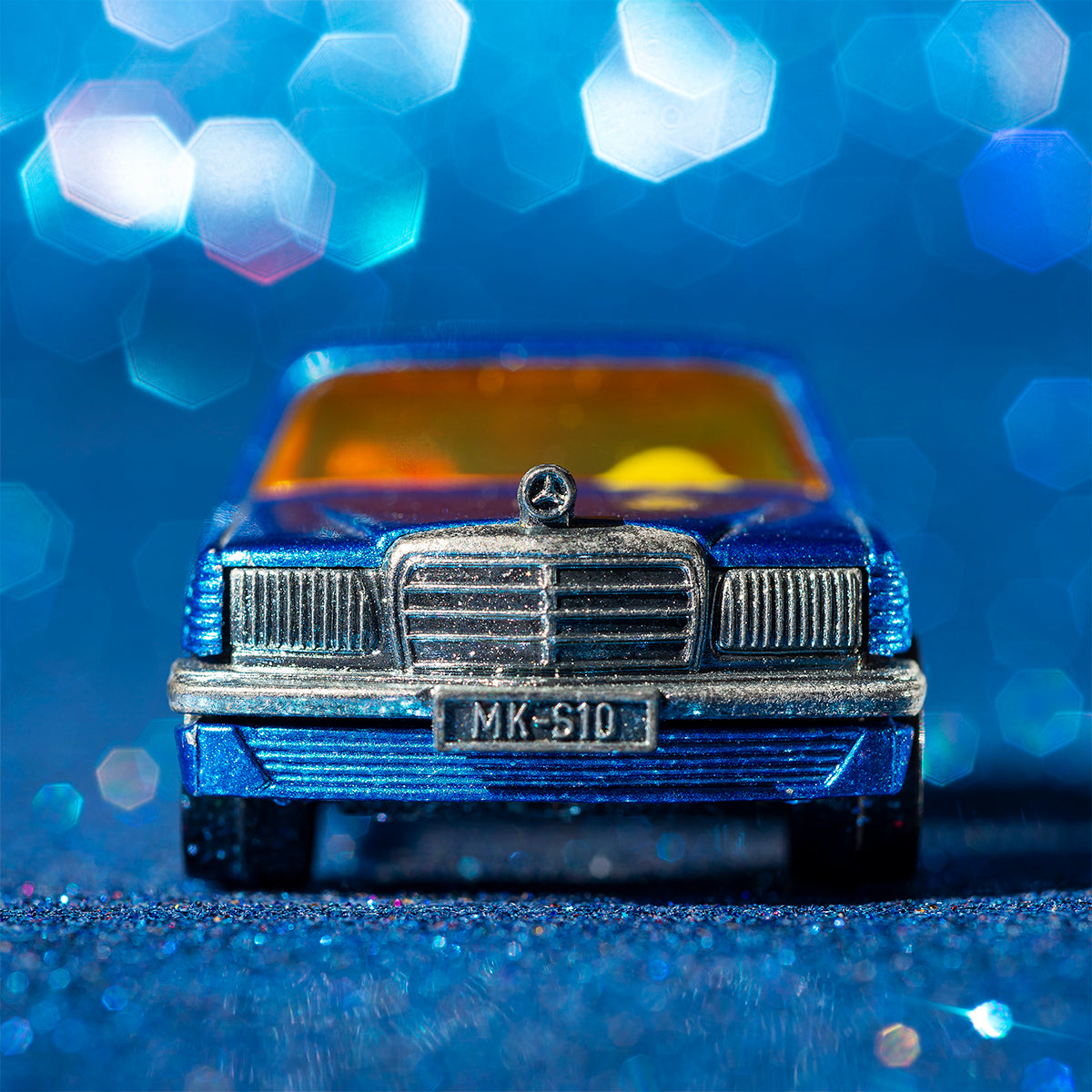 blue brilliance Mercedes W126 foto