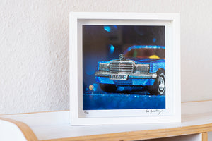 framed artwork mercedes benz photo