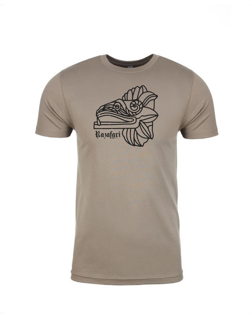 Feathered Serpent Unisex T-shirt - Warm Grey