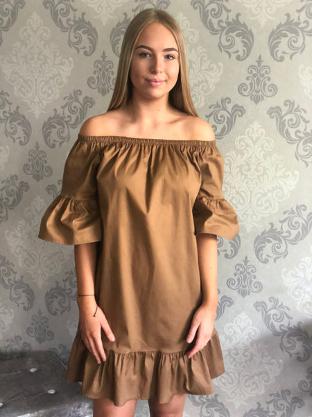 Bardot Frill Sleeve Dress (more colours available)