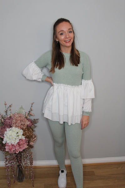 'Paige' Peplum Loungewear (more colours available)