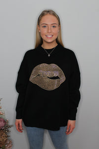 'Miley' Lips Jumper (more colours available)
