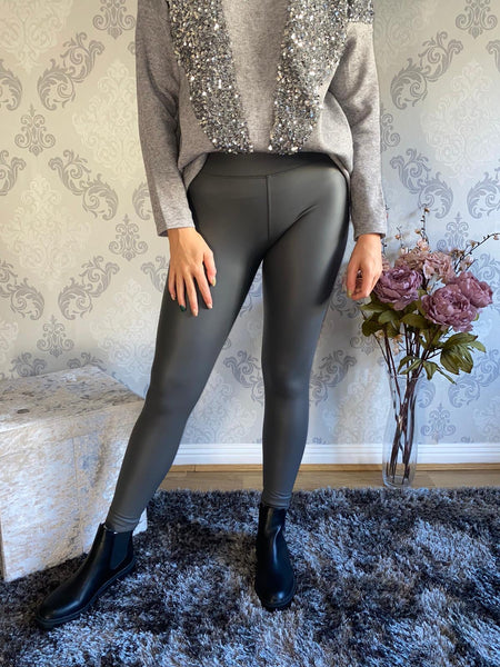 High Waisted PU Leggings (more colours available)