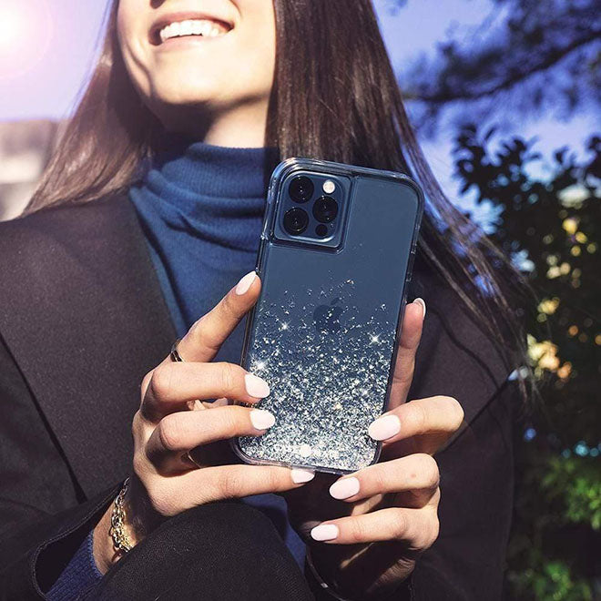 Woman's phone with a Clear Phone Case