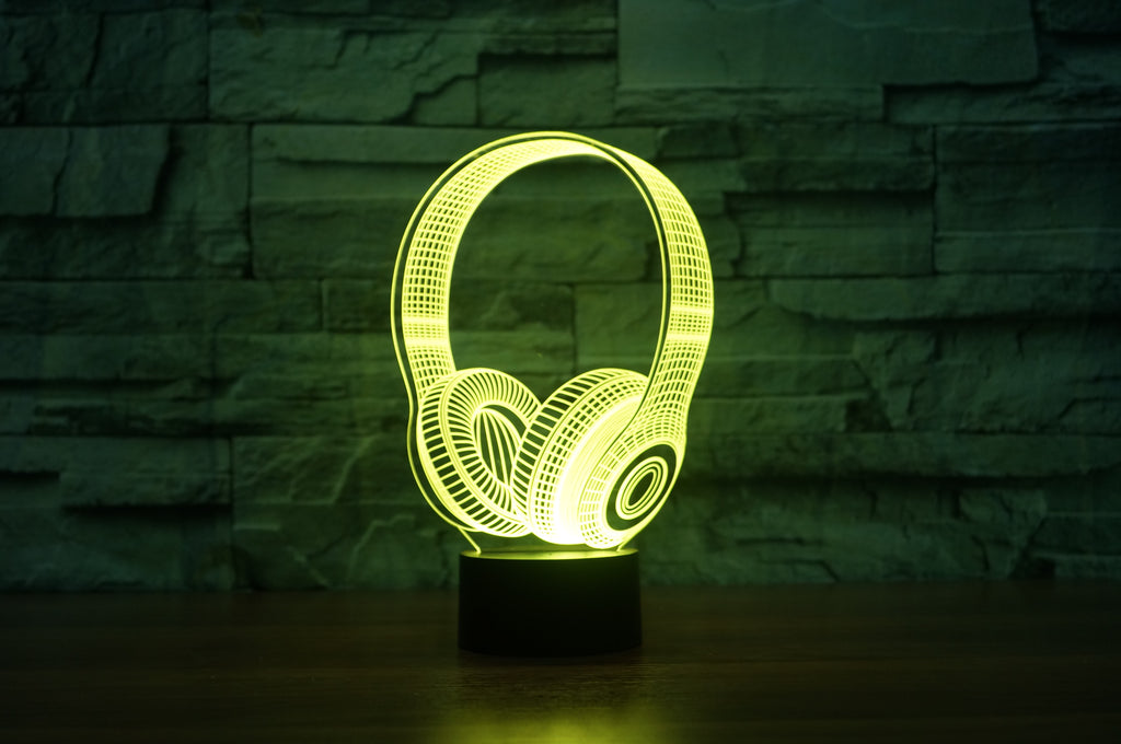 Headphone 3D LED Illusion Lamp