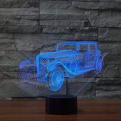 Antique Car 3D LED Illusion Lamp