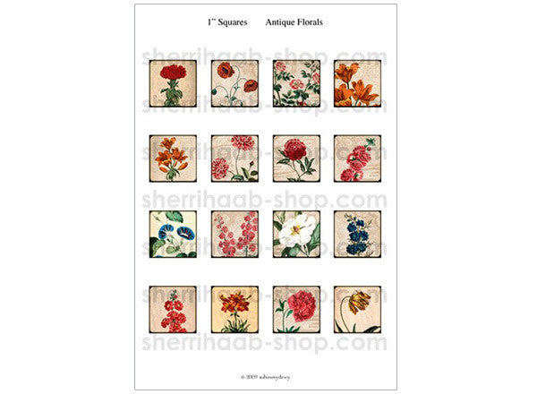 ITS Collection Sheet - Antique Florals