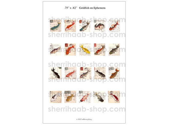 ITS Collection Sheet - Goldfish on Ephemera
