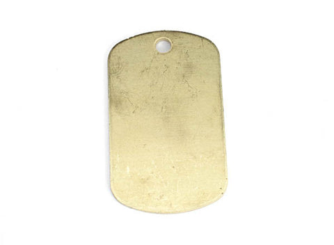 Brass Dog Tag