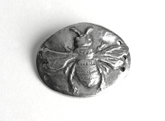 Pewter Bee Charm
