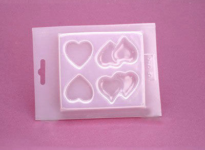 Resin Mold - Flat Hearts