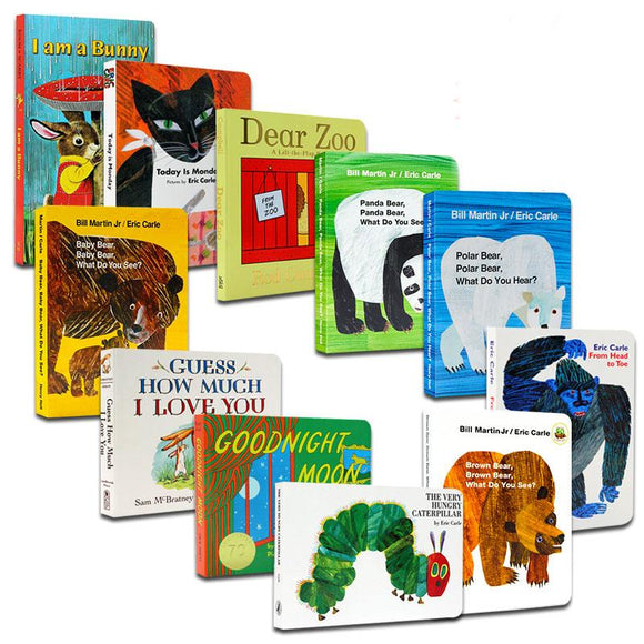 I have a buuny、Goodnight Moon、Guess How much I love you and Dear Zoo 11 books (cardboard)