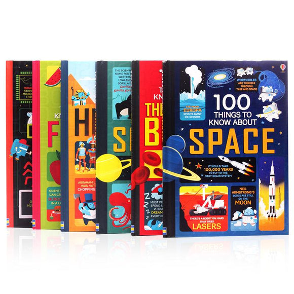 100 Things to Know About Science/History/Food/Computer/Space Encyclopedia Full 6 volumes (Hardcover )