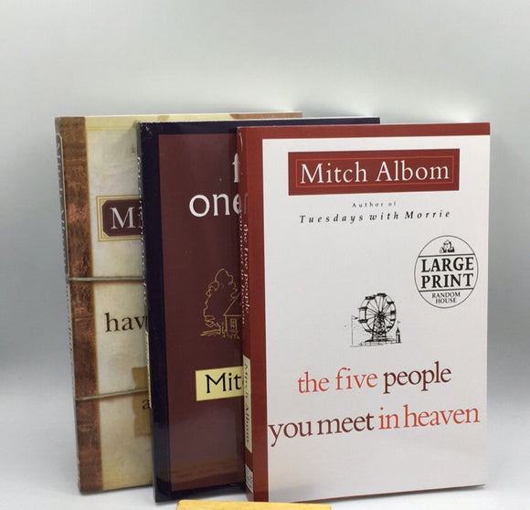 By Mitch Albom The Five People You Meet in Heaven、For One More Day and Have a Little Faith 3 books Set
