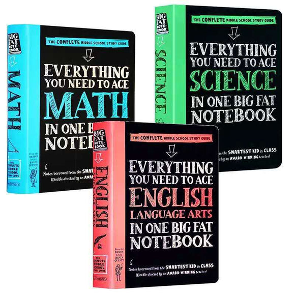 American teenager Straight A student Super notebook 3 volumes high school student notes