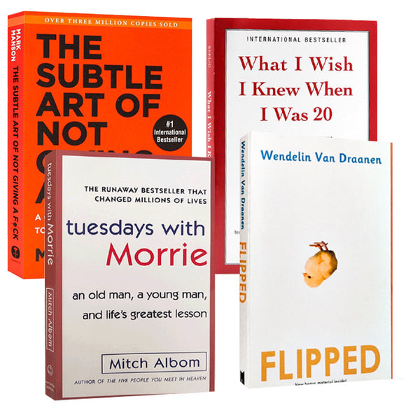 【Hot sale】Flipped、what I wish I knew when I was 20、Tuesday with morrie--4 must-read classics for women