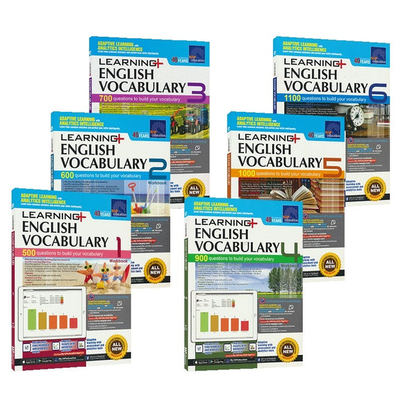 SAP learning vocabulary, Singapore English Vocabulary Workbook Grade 1-Grade 6 (6 volumes)