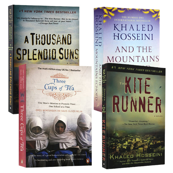 【Hot sale】The Kite Runner、And The Mountains Echoed、A Thousand Splendid Suns By Khaled Hosseini  and Three Cups of Tea