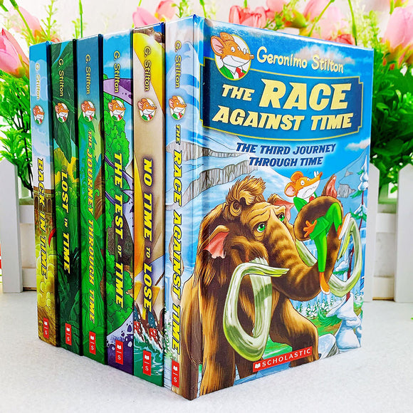 Mouse Reporter Traveling Through Time and Space, World History Series Geronimo Stilton 6 volumes in full color