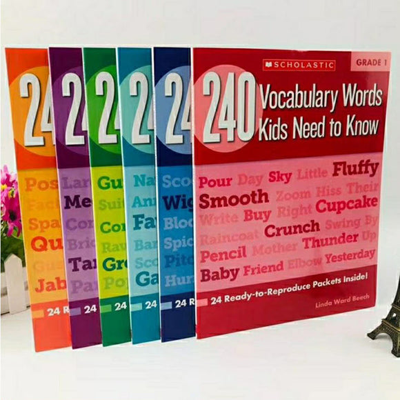 Vocabulary Words Kids Need To Know for Grades 1-6 A Complete Set of 6 Books